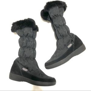 Coach Black Signature Theona Snow Boot Size 8